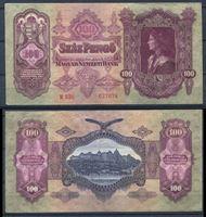 Bild von Венгрия 1930 г. P# 98 • 100 пенгё • король Матиас • регулярный выпуск • XF