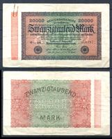 "Bild von Германия 1923 г. P# 85a • 20 тыс. марок • в.з. ""мелкие кружки"" • регулярный выпуск • VF ( кат. - $10 )"