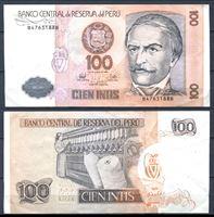 Picture of Перу 1987 г. P# 133 • 100 инти • Рамон Кастилья • регулярный выпуск • XF+
