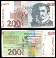 Изображение Словения 2001 г. P# 15c • 200 толаров • композитор Якоб Галлус • регулярный выпуск • VF