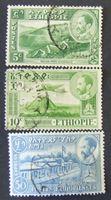 Изображение Эфиопия 1947 г. SC# 297, 310, 320 • Ландшафты Эфиопии • Used XF ( кат.- $1,8 )