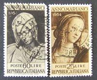 Bild von Италия 1954 г. Mi# 924-925 • Год Марии. Мадонна в искустве. • Used XF ( кат.- €3 )