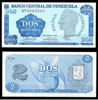 Picture of Венесуэла 1989 г. P# 69 • 2 боливара • регулярный выпуск • UNC пресс