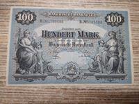 Bild von Бавария 1900 г. • 100 марок • регулярный выпуск  • серия № - В.№ 1785688 • AU+