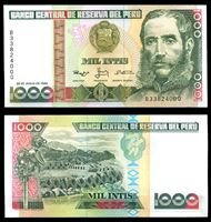 Image de Перу 1988 г. P# 136b • 1000 инти • Цезарь Вальехо • регулярный выпуск • UNC пресс