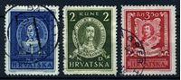 Изображение Хорватия 1943 г. SC# 56-8 • 1 - 3.50 k. • Известные хорваты • Used XF • полн. серия
