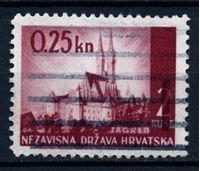 Изображение Хорватия 1942 г. SC# 53 • 0.25 k. на 2 k. • Кафедральный собор (Загреб) • Used XF
