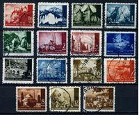Изображение Хорватия 1941-43 гг. SC# 30..45 • Архитектура Хорватии • лот 15 разных марок • Used VF ( кат.- $6 )