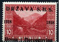 Изображение Югославия • Босния и Герцеговина 1918 г. SC# 1L3 • 10 h. • надпечатка на марках 1910 г. • MNH OG XF
