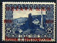 Изображение Югославия • Босния и Герцеговина 1918 г. SC# 1L5 • 25 h. • надпечатка на марках 1910 г. • MNH OG XF