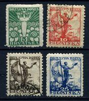 Изображение Югославия • Хорватия и Славония 1919 г. SC# 2L34-37 • 5 - 25 f. • Символы свободы • Mint/Used XF