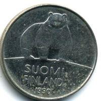 Bild von Финляндия 1990 г. M • KM# 66 • 50 пенни • первый год чеканки типа • полярный медведь • регулярный выпуск • AU