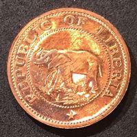 Picture of Либерия 1972 г. • KM# 13 • 1 цент • слон • парусник • MS BU люкс! • пруф