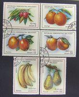 Bild von Мадагаскар 1992 г. SC# 1405-1410 • Тропические фрукты • Used(ФГ) XF+