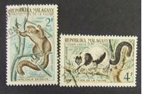 Bild von Мадагаскар 1961 г. SC# 510-511 • Лемуры • Used(ФГ) XF+