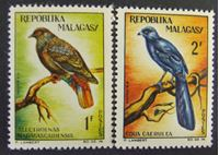 Bild von Мадагаскар 1963 г. SC# 538-539 • Местные птицы. • MNH OG XF+