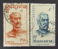Bild von Мадагаскар 1946 г. SC# 441, 444 • Французские генералы • Used XF