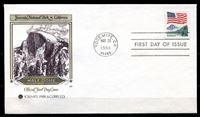 Picture of США 1988 г. • 25c. • Йосемитский_национальный_парк • Used(СГ) XF • КПД