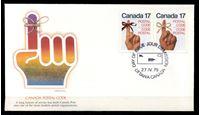Bild von Канада 1979 г. SC# 815-6 • 17 c.(2) • Используйте почтовые коды! • Used(СГ) XF • полн. серия • пара • КПД