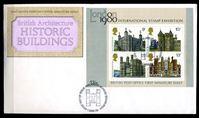 Bild von Великобритания 1978 г. SC# 834a • Британская архитектура • исторические здания • Used(ФГ) XF • блок • КПД