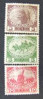 Изображение Австрия 1915 г. Mi# 180-182 • Военные мотивы • Mint/Used VF ( кат.- €2,5 )