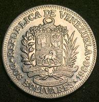 Изображение Венесуэла 1986 г. • KM# 43 • 2 боливара • Симон Боливар • регулярный выпуск • MS BU люкс!