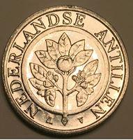 Изображение Голландские Антилы 2003 г. • KM# 35 • 25 центов • цветущий апельсин • регулярный выпуск • MS BU