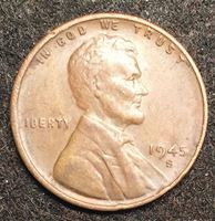 Bild von США 1945 г. S • KM# A132 • 1 цент • Авраам Линкольн • регулярный выпуск • XF+