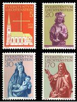 Изображение Лихтенштейн 1966 г. SC# 416-9 • Восстановление собора св. Флорина • MNH OG XF • полн. серия