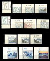 Изображение Фарерские о-ва 1975 г. SC# 7-20 • 5 - 500 o. • Карты и ландшафты островов • MNH OG Люкс • полн. серия ( кат.- $15 )