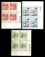 Изображение Фарерские о-ва 1976 г. SC# 21-3 • 125,160 и 800 o. • Образование независимой почтовой службы островов • MNH OG Люкс • кв. блоки ( кат.- $20 )