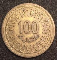 Изображение Тунис 1960 г. • KM# 309 • 100 миллимов • первый год чеканки типа • регулярный выпуск • XF-AU