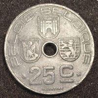 Изображение Бельгия 1944 г. • KM# 132 • 25 сантимов • регулярный выпуск • AU+ ( кат.- $5,00 )