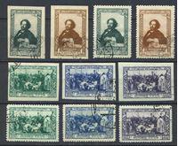 Изображение СССР 1944 г. Сол# 933-42 • И. Е. Репин • 100 лет со дня рождения • Used(ФГ) VF • полн. серия