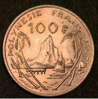 Picture of Французская Полинезия 1976 г. • KM# 14 • 100 франков • первый год чеканки типа • мадам Республика • регулярный выпуск • MS BU люкс! ( кат.- $10,00 )