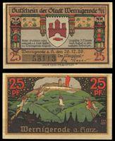 Picture of Германия •  Вернигероде 1920 г. • 25 пфеннигов • Ведьмы, летящие на пожар • локальный выпуск • UNC пресс