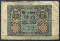 Изображение Германия 1920 г. B P# 69a • 100 марок • регулярный выпуск  • серия № - 7 цифр • F-