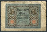 Bild von Германия 1920 г. B P# 69a • 100 марок • регулярный выпуск  • серия № - 7 цифр • F-