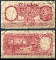 Изображение Аргентина 1953-57 гг. P# 270 • 10 песо • регулярный выпуск • VG+