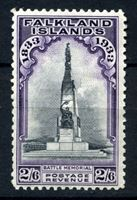 Изображение Фолклендские о-ва 1933 г. Gb# 135 • 2s.6d. • 100-летие Британского управления островами • обелиск павшим воинам • MLH OG XF ( кат.- £200 )