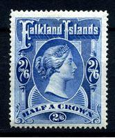 Изображение Фолклендские о-ва 1898 г. Gb# 41 • 2s.6d. • Королева Виктория • MLH OG XF ( кат.- £275 )