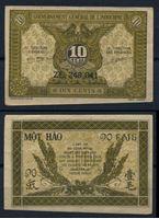 Изображение Французский Индокитай 1942 г. P# 89a • 10 центов • регулярный выпуск • UNC-