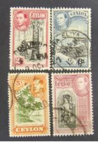 Изображение Цейлон 1938 г. SC# 246, 248-249, 257 • Король Георг Пятый. Местные виды • Used XF ( кат.- $5 )