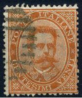 Изображение Италия 1879 г. SC# 47 • 20 c. • Умберто I • Used XF