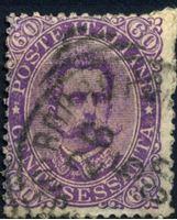 Изображение Италия 1889 г. SC# 55 • 60 c. • Умберто I • Used VF ( кат.- $45 )