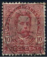 Изображение Италия 1891-96 гг. SC# 67 • 10 c. • Король Умберто I • Used VF+ ( кат.- $2,25 )