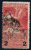 Изображение Италия 1913 г. SC# 127 • 2 c. на 10 c. • Used XF ( кат.- $6,75 )