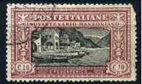 Изображение Италия 1923 г. SC# 165 • 10 c. • 50 лет со дня смерти Алессандро Мандзони • Used F- ( кат.- $180 )