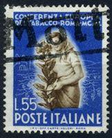 Изображение Италия 1950 г. SC# 546 • 55 l. • Международная табачная конференция, Рим. • Used XF ( кат.- $30 )