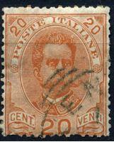Изображение Италия 1891-96 гг. SC# 69 • 20 c. • Король Умберто I • Used VF+ ( кат.- $2,25 )